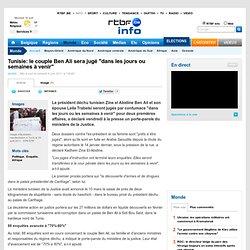 """Tunisie: le couple Ben Ali sera jugé """"dans les jours ou semaines à venir"""""""