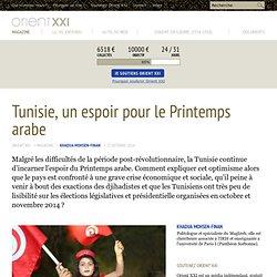 Tunisie, un espoir pour le Printemps arabe