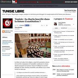 Tunisie: la charia inscrite dans la future Constitution?