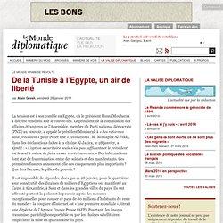 De la Tunisie à l'Egypte, un air de liberté