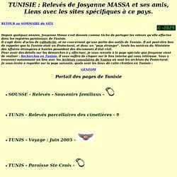 Tunisie : relevés de Josyanne Massa