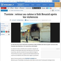 International : Tunisie : violences à Sidi Bouzid après les élections