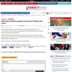 SONEDE: 40% des tunisiens payent moins de 3 dinars par mois
