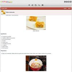 Recette Cuisine Tunisienne, Recette Tajine malsouka Tunisien de la cuisine Tunisienne