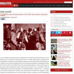 Les Tunisiens dans la Grande Guerre 1914-1918: Une mémoire centenaire oubliée