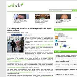 Les immigrés tunisiens à Paris reçoivent une leçon d'inhumanité