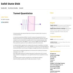 Tunnel Quantistico