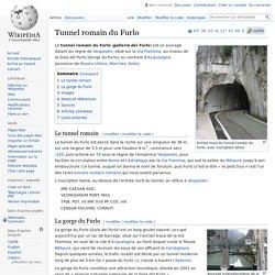 Tunnel romain du Furlo