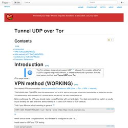 Tunnel UDP over Tor - Whonix