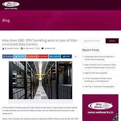 How does GRE; VPN Tunneling work in case of Inter-connected Data Centers