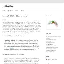 Tunning MySQL InnoDB performance