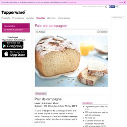 Tupperware - Pain de campagne