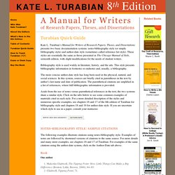 How to write in kate turabian