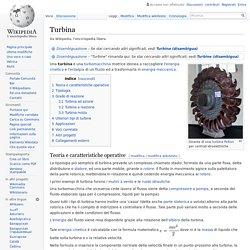 Turbina centrale idroelettrica
