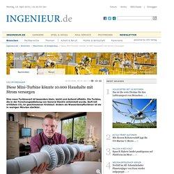 Diese Mini-Turbine könnte 10.000 Haushalte mit Strom versorgen