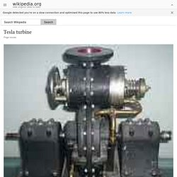 Tesla turbine - Wikipedia, the free encyclopedia