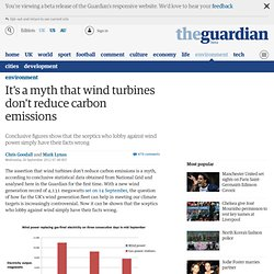 It's a myth that wind turbines don't reduce carbon emissions | Chris Goodall and Mark Lynas | Environment