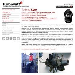 Turbine Lynx - Turbiwatt, turbines hydroélectriques de basse chute