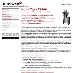 Turbine Tigre T1300 - Turbiwatt, turbines hydroélectriques de basse chute