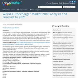World Turbocharger Market 2016 Analysis and Forecast to 2021