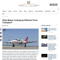 What Makes Turboprop Different From Turbojets - UberPanache