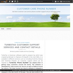 TurboTax Customer Support Services and Contact Details - Customer Care Phone number