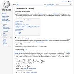 Turbulence modeling, wikipedia