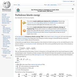 Turbulence kinetic energy, wikipedia