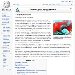 Wake turbulence, wikipedia
