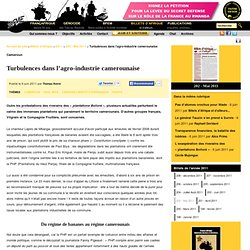 Turbulences dans l'agro-industrie camerounaise