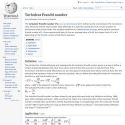 Turbulent Prandtl number