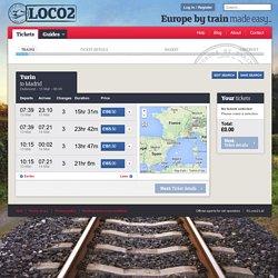 Turin to Madrid trains