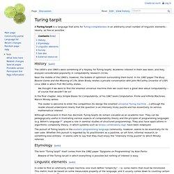 Turing tarpit