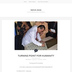 Turining Point for Humanity - Nova Gaia