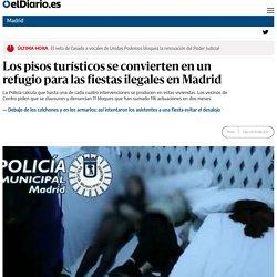 Los pisos turísticos se convierten en un refugio para las fiestas ilegales en Madrid