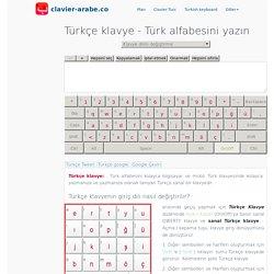 Türkçe klavye ™ Türk alfabesini yazın
