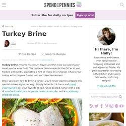 Turkey Brine {Extra Moist and Juicy}