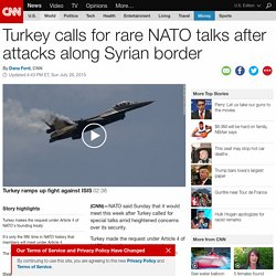 Turkey calls for rare NATO talks