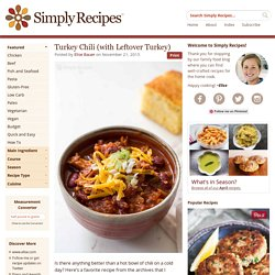 Turkey Chili (with Leftover Turkey) Recipe