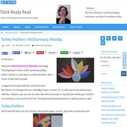 Turkey Feathers- Multisensory Monday - Think Ready Read