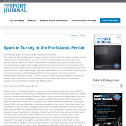 Sport in Turkey in the Pre-Islamic Period – The Sport Journal