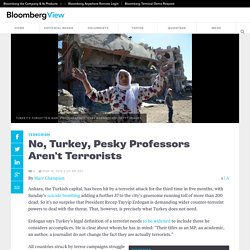 No, Turkey, Pesky Professors Aren't Terrorists