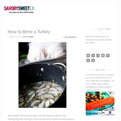 How to Brine a Turkey | Easy Turkey Brine Recipe
