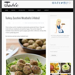 Turkey Zucchini Meatballs (+Video) » The Table
