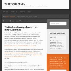 Türkisch unterwegs lernen mit mp3-Audiofiles