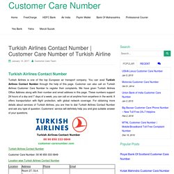 Turkish Airlines Contact Number
