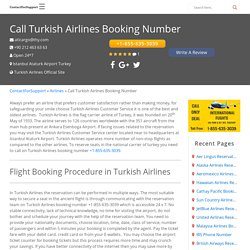 Call Turkish Airlines Booking Number +1-855-635-3039 Customer Service USA