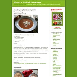 Binnur's Turkish Cookbook: Tarhana Soup