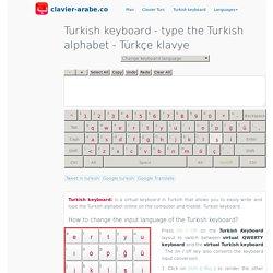 Turkish keyboard ™ type the Turkish alphabet - Türkçe klavye