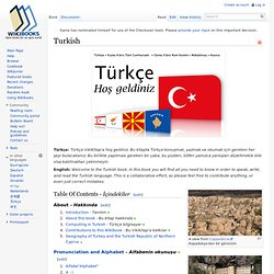 Turkish - Wikibooks, collection of open-content textbooks